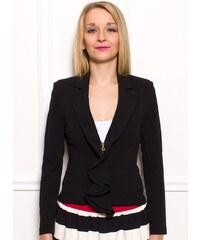 310deed7befb Rinascimento Dámske elegantné čierne sako s volánom