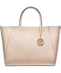 7539a996e2 Glamorous by GLAM Kožená kabelka zo safiánové kože jednoduchá - béžová