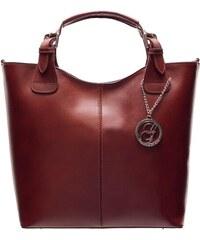 bb0d947717 Glamorous by GLAM Dámska kožená kabelka do ruky - hnedá