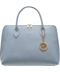 c06142d236 Glamorous by GLAM Dámska kožená kabelka zo safiánové kože - svetlo modrá