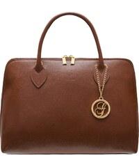 327130c1bb Glamorous by GLAM Dámska kožená kabelka zo safiánové kože - marrone