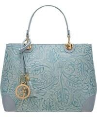 6430c845b1 Glamorous by GLAM Dámska kožená kabelka radenie s kvetmi - svetlo modrá
