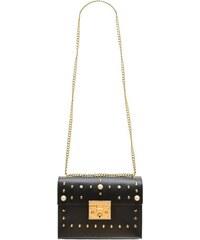 26ff5a501b Glamorous by GLAM Dámska kožená crossbody kabelky s perličkami - čierna
