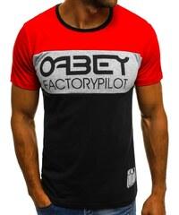 f5ca20fe9697 Buďchlap Čierne tričko v zaujímavej kombinácii O 1179