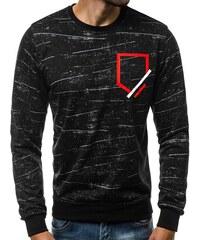 073338ee6 Fekete pulóver 3D kivitelben J.STYLE DD32 - Glami.hu