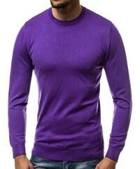 46836d386c84 Buďchlap Jednoduchý fialový sveter BL M041