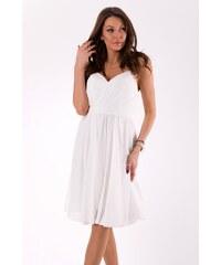 bb5e8b17501e Eva Lola Elegantní šaty na ramínka bílé