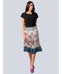 4f13bdb244a8 Plisovaná sukňa Alba Moda Prírodná biela  Čierna  Pink