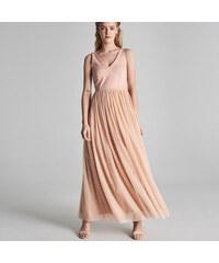 9e1114a30209 Sinsay - Maxi šaty s výstřihem do V - Růžová