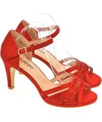 6e7a6745aad0 SEASTAR Dámske červené sandále LIMMA 36