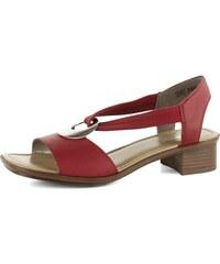 7c2defe4e408 Rieker sandály červené se stříbrnou ozdobou 62662-33