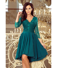ee6b84ca2be3 Dámske šaty Numoco 210-8 s čipkou zelené
