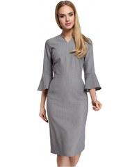 37cc13bba723 Moe Dámské denní šaty Moe 85009 šedé - šedá
