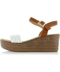 0ec4319d6f66 Mulanka Biele platformové sandále Lois