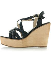855932a66637 Mulanka Čierne platformové sandále Laurin