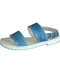 b1bb783a39e7 Modré sandále na nízkom podpätku Rizzoli