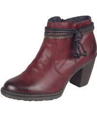 94d9b06c08 Bordové zateplené členkové topánky Rieker