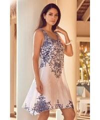 702da9218939 David Beachwear Plážové šaty Sofia bílomodrá