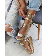 76c22e1e3b95 Mulanka Zlaté platformové sandále Francisia