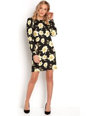 c0ab01f1cd74 Kvetované Šaty s dlhým rukávom