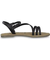 43fdf76304d5 Čierne kožené sandále s uzavretou špičkou Tamaris - Glami.sk