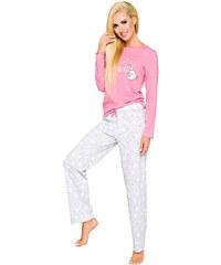 b8f812bf305e Taro Dámske bavlnené pyžamo Oda ružové medvedík