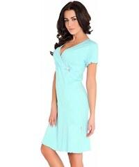 f0ce2369c677 DN Nightwear Bavlnená tehotenská a dojčiaca nočná košeľa Baby zelená ...