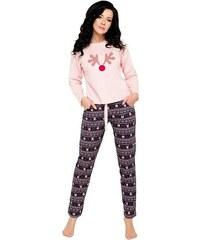 f21599d66860 Taro Dámske ružové bavlnené pyžamo Nadia