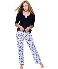 375b2b0a14fa Sensis Dámske pyžamo Rosalie modré ruže