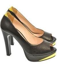 8d7ffafc246b Dámske čižmy a členkové topánky s otvorenou špičkou