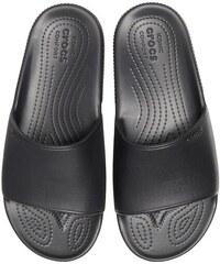 44a378b41d Crocs čierne šľapky na platforme Crocband Platform Metallic Blooms ...