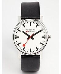 Mondaine - Evo - Grosse montre à quartz à bracelet en cuir - Noir