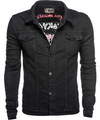 7e886f9c2a39 Ombre Clothing Pánska jeansová bunda Savage čierna