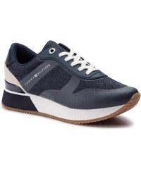0d4bfd6634 Sportcipő TOMMY HILFIGER - Tommy Jacquard City Sneaker FW0FW04026 Midnight  403