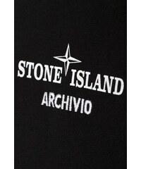 cbe615ed02 Černé regular fit tričko Stone Island ARCHIVIO