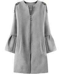 44ebb2bc1d MADE IN ITALY Dámsky prechodný kabát s rozšírenými rukávmi 18151