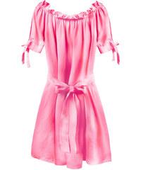 17c70ba17022 Promoda.cz Dámské krátké šaty MODA279 neonové růžové