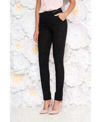 75abb72b78 Fekete StarShinerS irodai kónikus nadrág enyhén elasztikus szövet fém  díszítésekkel