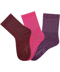 Arizona ABS-Socken (3er-Pack) in rot für Damen von bonprix