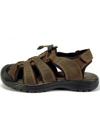 0f590364575e Selma Sandál kožený hnědý MR61037