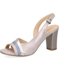 40ff488e0fa3 Dámske otvorené sandále na vysokom podpätku značky Caprice farba ružová