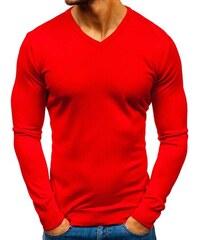 69cac5bbd57d Červený pánsky sveter s výstrihom do V BOLF 2200