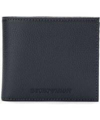 bac32930b1 Emporio Armani embossed logo billfold wallet - Blue