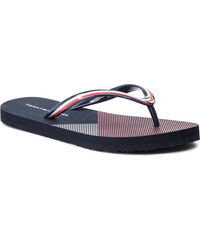 41af029fcb256 Vietnámi papucsok TOMMY HILFIGER - Flat Beach Sandal Stripe Print  FW0FW04043 Rwb 020