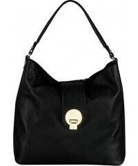 1affab2a2d Čierne veľké kožené kabelky dámske vrecové na plece Wojewodzic 3176