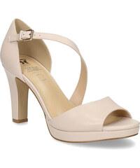 3c5b5f360fe0 Insolia Telové kožené sandále s asymetrickým remienkom
