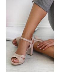 8301189e90e1 Mulanka Béžové sandále Bethany