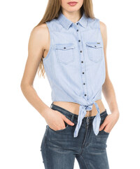 af26d621a615 Pepe Jeans Košeľová blúzka »TRISHA« biela-svetlomodrá pruhovaná ...