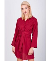 a81003ce6de1 The SHE Červené košeľové šaty s viazaním