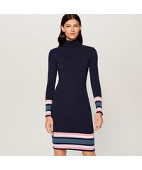 63af86c85806 Mohito - Priliehavé úpletové šaty - Modrá